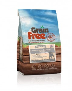 Natural Pet Food Grain Free Light/Senior Łosoś z pstrągiem, batatami i szparagami 12kg + 2kg PROMOCJA