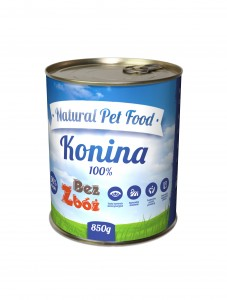 Natural Pet Food Konina 100% mięsa 850g Grain Free